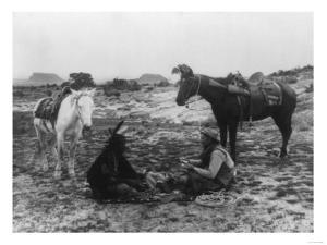 Cowboy and Navaho Indian Playing Cards Photograph by Lantern Press
