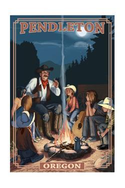 Cowboy Campfire Story Telling - Pendleton, Oregon by Lantern Press