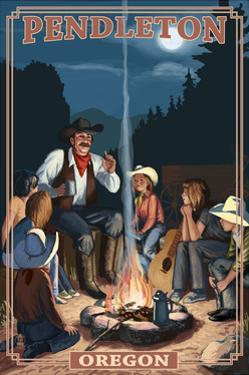 Cowboy Campfire Story Telling - Pendleton, Oregon by Lantern Press