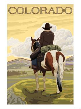 Cowboy - Colorado by Lantern Press