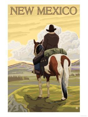 Cowboy - New Mexico by Lantern Press