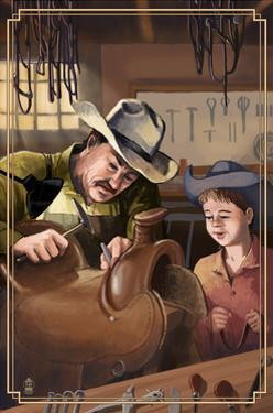 Cowboy Saddle Maker by Lantern Press