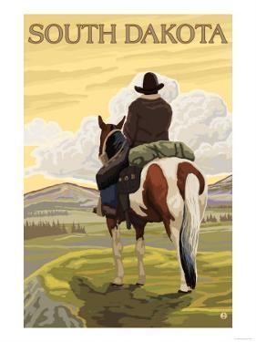 Cowboy - South Dakota by Lantern Press