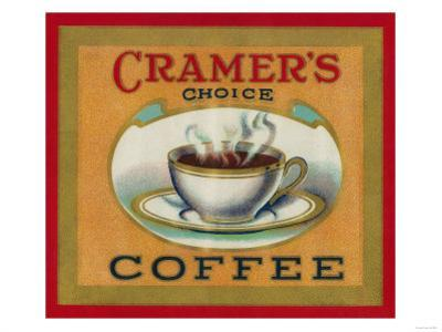 Cramer's Choice Coffee Label by Lantern Press