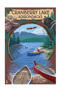 Cranberry Lake, New York - Adirondacks Canoe Scene by Lantern Press