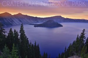 Crater Lake National Park, Oregon - Aerial View by Lantern Press