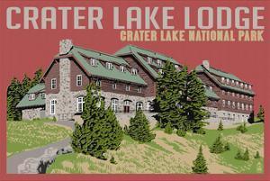 Crater Lake National Park, Oregon - Lodge by Lantern Press