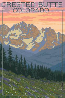 Crested Butte, Colorado - Bear and Spring Flowers by Lantern Press