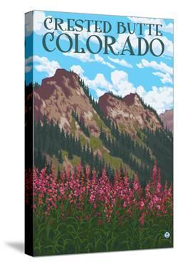 Crested Butte, Colorado - Fireweed and Mountains by Lantern Press