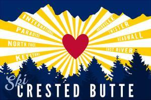 Crested Butte, Colorado - Heart and Treeline by Lantern Press