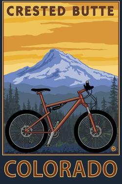 Crested Butte, Colorado - Mountain Bike Scene by Lantern Press