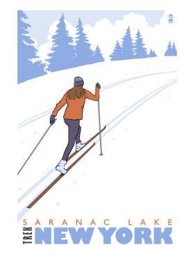 Cross Country Skier, Saranac Lake, New York by Lantern Press