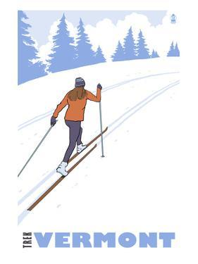 Cross Country Skier - Vermont by Lantern Press