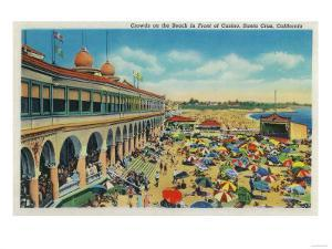 Crowds on the Beach in front of the Casino, Santa Cruz - Santa Cruz, CA by Lantern Press