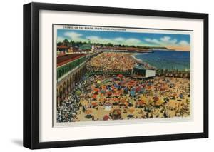 Crowds on the Beach, Santa Cruz - Santa Cruz, CA by Lantern Press