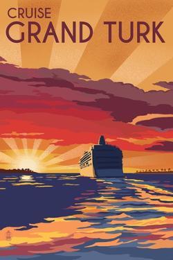 Cruise Grand Turk - Lithography Style by Lantern Press