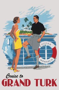 Cruise to Grand Turk Vintage Poster by Lantern Press