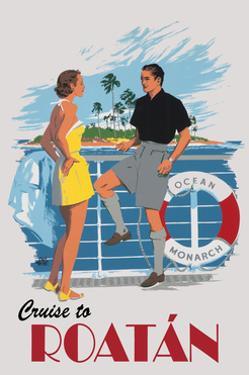 Cruise to Roatan Vintage Poster by Lantern Press