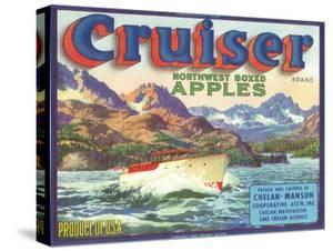 Cruiser Apple Label - Chelan, WA by Lantern Press