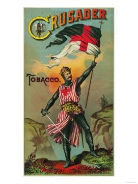Crusader Tobacco Label - Petersburg, VA by Lantern Press