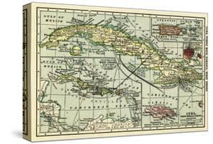 Cuba - Panoramic Map by Lantern Press