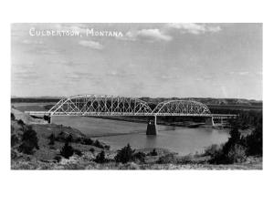 Culbertson, Montana - View of a Bridge by Lantern Press