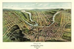 Cumberland, Maryland - Panoramic Map by Lantern Press