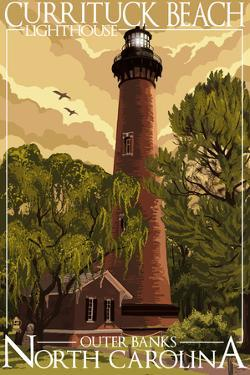 Currituck Lighthouse - Outer Banks, North Carolina by Lantern Press