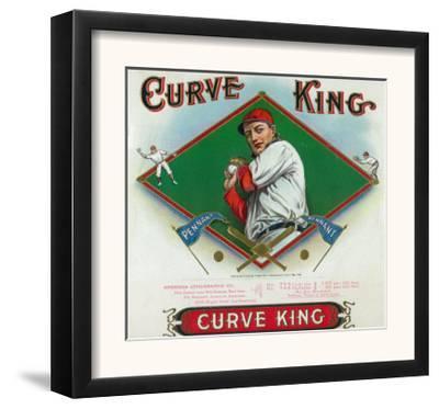 Curve King Brand Cigar Box Label, Baseball by Lantern Press