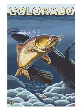 Cutthroat Trout Fishing - Colorado by Lantern Press