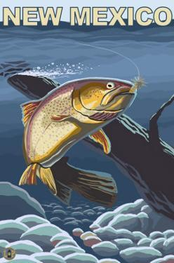 Cutthroat Trout Fishing - New Mexico by Lantern Press