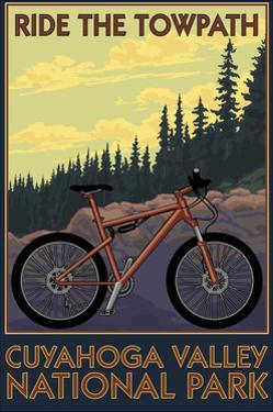 Cuyahoga Valley National Park, Ohio - Mountain Bike by Lantern Press