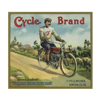 Cycle Brand - Fillmore, California - Citrus Crate Label by Lantern Press