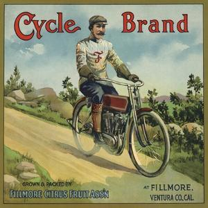 Cycle Brand - Fillmore, California - Citrus Crate Label by Lantern Press