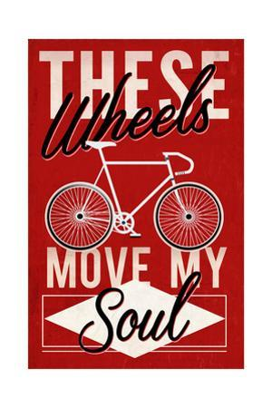 Cycling Moves My Soul - Screenprint Style