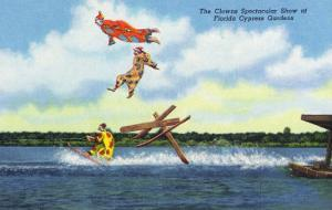 Cypress Gardens, Florida - View of Clowns Waterskiing by Lantern Press