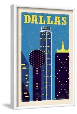 Dallas, Texas - Woodblock by Lantern Press