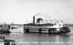 Davenport, Iowa - Rock Island-Davenport Ferry Landing by Lantern Press