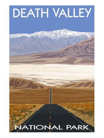 Death Valley National Park, California, Highway Scene