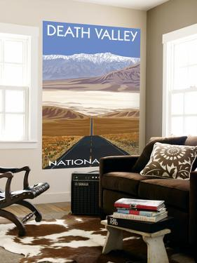 Death Valley National Park, California, Highway Scene by Lantern Press