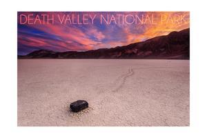 Death Valley National Park - Racetrack at Sunset by Lantern Press