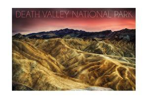 Death Valley National Park - Stormy Sky by Lantern Press