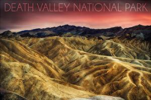Death Valley National Park - Stormy Sky by Lantern Press