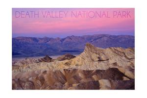 Death Valley National Park - Zabriskie Point and Sunset by Lantern Press