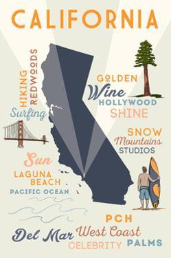 Del Mar, California - Typography and Icons by Lantern Press