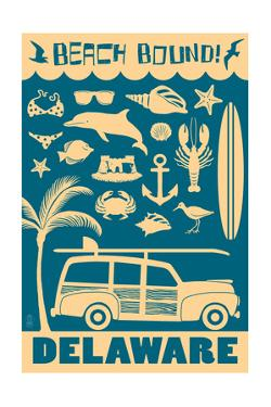 Delaware - Coastal Icons by Lantern Press