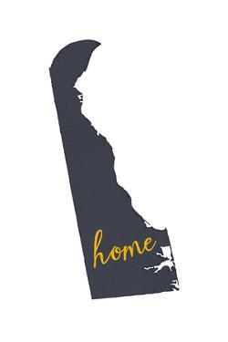 Delaware - Home State - Gray on White by Lantern Press