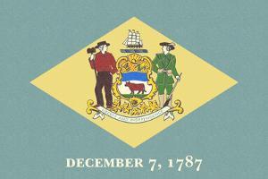 Delaware State Flag by Lantern Press