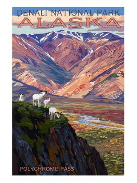 Denali National Park, Alaska - Polychrome Pass by Lantern Press