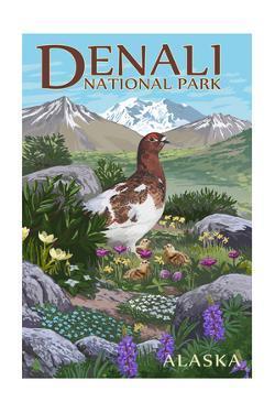 Denali National Park, Alaska - Ptarmigan by Lantern Press